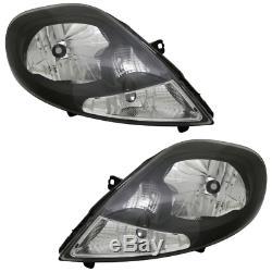 2 feux optique phare noir clear Nissan Primastar Opel Vivaro Renault Trafic 2