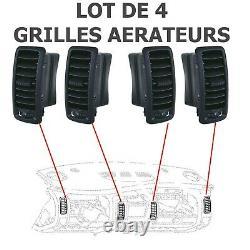 4 Grilles Bouche Cache Buse Ventilation Habitacle TRAFIC II VIVARO A PRIMASTAR