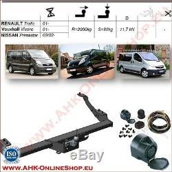 AHK ES13 Opel Vivaro Bj. 2001-2014 Dispositif D'Attelage Attelage de Remorque