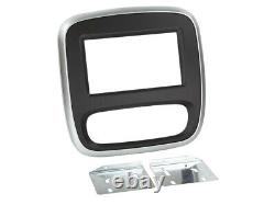 Adaptateur de façade 2-DIN Renault Trafic/Opel Vivaro 14noir/gris