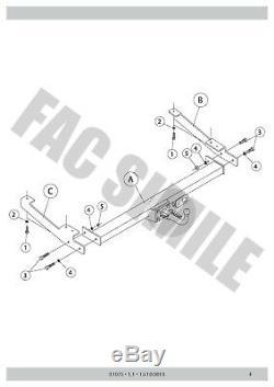 Attelage Démontable + 13broches C2 Kit pour Opel VIVARO VAN 01-06 31075 A3