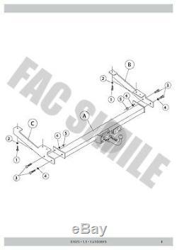 Attelage Démontable + Faisceaux 7 broches pour Renault TRAFIC VAN 01-06 31075 A5