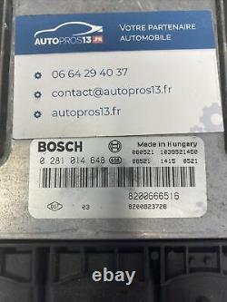 Ecu Calculateur De Moteur A Reprogrammer Bosch Renault Trafic 2.0 DCI 8200666516
