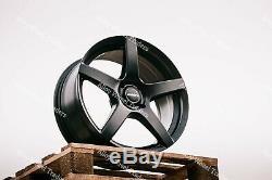 Jantes en Alliage X4 17 Noir Rythme pour 2014 Only Opel Vivaro Renault Trafic