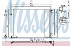 NISSENS Condenseur de climatisation pour RENAULT TRAFIC OPEL VIVARO 94671