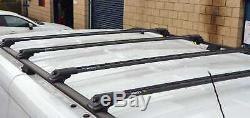 Opel Vivaro Camionnette x4 Noir Verrouillable Antivol Cross Barres + Lwb de Toit