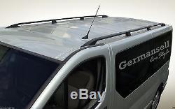 Opel Vivaro Renault Trafic L2 Long de L'Année 2001 Aluminium Rails Toit en Noir
