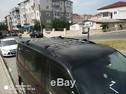 Opel Vivaro, Renault Trafic Lwb Noir Barres de Toit Supports + Transversales 15