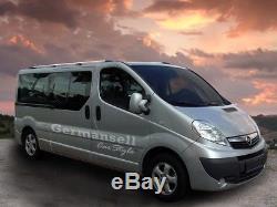 Opel Vivaro Renault Trafic Nissan Primastar L1 Aluminium Rails de Toit en Chrome