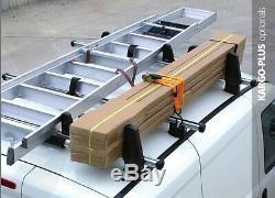 Opel Vivaro Van Barres de Toit Camionnette Nordrive Kargo 4 Bars Verrouillable