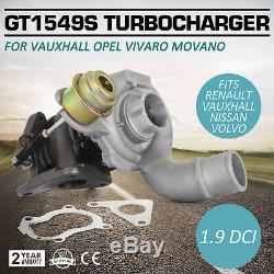 PRO Pour vauxhall opel vivaro movano 1.9 GT1549S 703245 turbocompresseur Ship