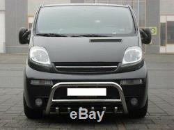 Pare Buffle Bullbar Inox Pour Renault Trafic, Opel Vivaro, Nissan Primastar 01-14