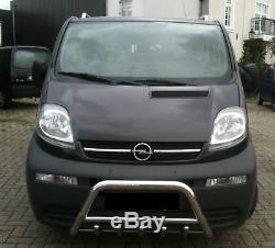 Pare Buffle Bullbar Protection Inox Pour Opel Vivaro Renault Trafic 2001-2014