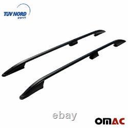 Pour Opel Vivaro 2014-2020 Barres de Toit Longitudinales en Aluminium Noir