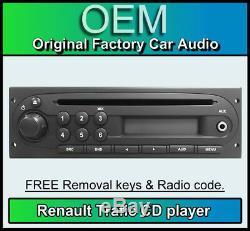 Renault Trafic Lecteur CD Avec Entrée Aux, Voiture Stéréo + Code Radio, Clé