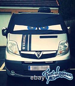 Renault Trafic Primastar Vivaro Fenêtre Écran Housse Blackout Store Drapé Bleu