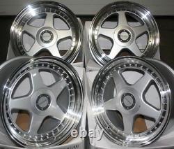 Roues Alliage X 4 17 sil DR-F5 Pour 5X118 Opel Vivaro Renault Trafic