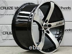 Roues Alliage X 4 20 Noir M Lame Pour Opel Vivaro 5x118 2014 Fiat Ducato
