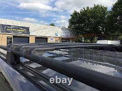 Vivaro Trafic Primastar Noir Verrouillable Cross Barres Toit Rack 90 KG 2015 +